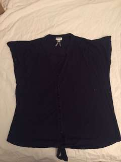 Navy loose fitted top