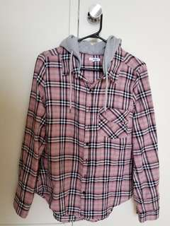 Plaid Ardene shirt with Hood