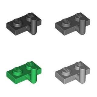 Lego Plate 1x2 with Hook Black Dark Light Bluish Gray Green 1pc