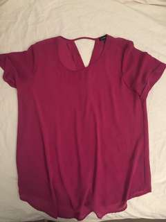 Magenta loose fitted top