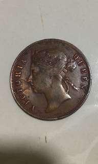 Straits settlements 1897  one cents