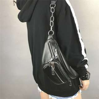 [PO] Ladies PU Leather Crossbody Waist Bag