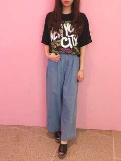 Wego 淺藍色闊褲(D18)