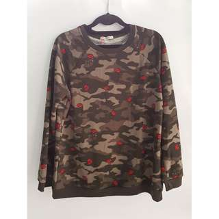 Camouflage Patterned Sweater