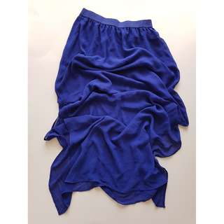 H&M Divided Blue Maxi Skirt w/ Side Slits