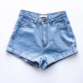 American Apparel AA High Waist HW Denim Shorts 26