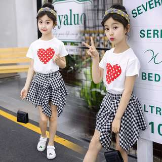 Children's clothing girls summer 2018 new Korean version of the suit fashion summer clothes little girls clothes children two-piece
