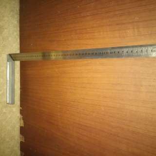 Extra long Engineer's Square. Length of ruler 50cm