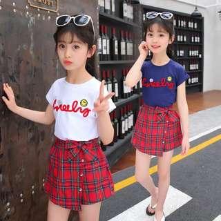 Children's clothing girls summer suit children's Korean version of fashion trendy children's fashion two-piece