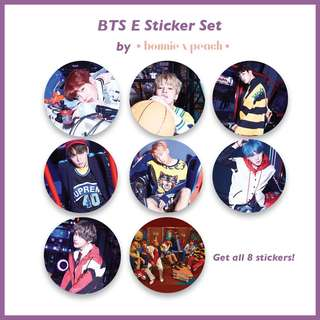 BTS E Sticker Set