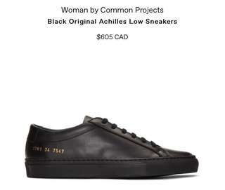 Woman by Common Projects Black Achilles Low