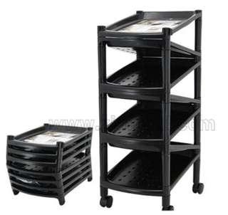 Black plastic shoes rack shoes shelf shoes storage 90% NEW
