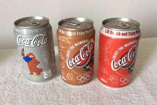 Coca Cola 2000 Sydney Olympics cans