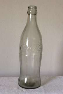 "Vintage glass Coca Cola bottle 20"" tall"