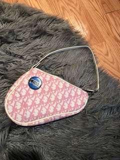 Christian Dior Saddle Bag with CD Pin
