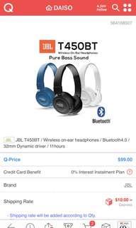 JBL Bluetooth headset T450BT