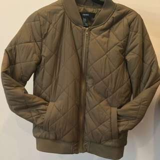 Olive Green Bomber Jacket F21 | Size S
