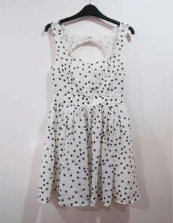 Forever 21 Polka Cutout Dress