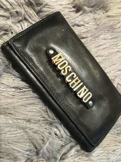 Vintage Moschino Leather Bifold Wallet