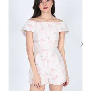 Love Bonito Fryda Jacquard Playsuit