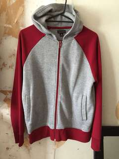 Red & grey jumper