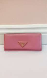 100%real💗Prada Pink Wallet 長銀包