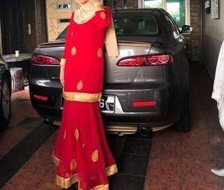 SAREE KURUNG XL RED