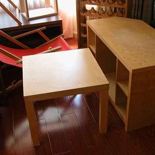 棕木色 邊桌小茶几