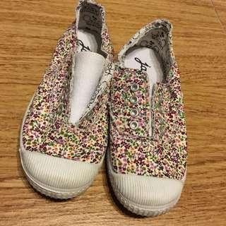 Jacadi Girl floral sneaker / size 28