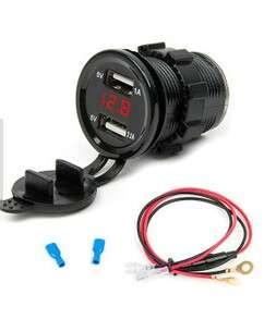 usb port and voltmeter