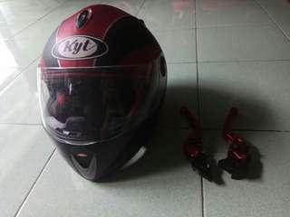 Helm + handle rem matic honda