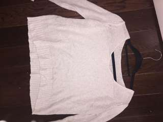 knitted white long sleeve