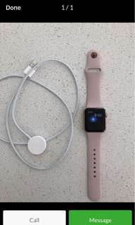Apple Watch series 3 space grey and rose gold 42cm