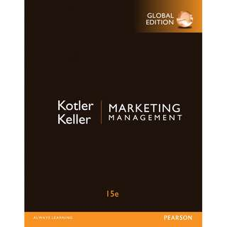 Marketing Management Global 15th Fifteenth Edition by Philip Kotler, Kevin Lane Keller - Pearson
