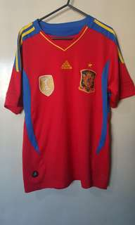 Authentic Adidas Spain National Home Football Jersey