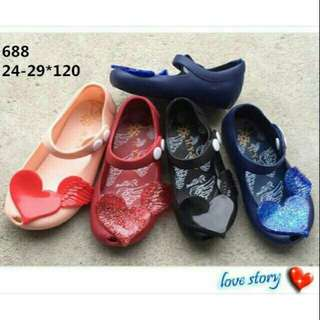 Jelly shoes wings kids /jelly shoes anak