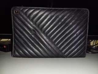 Valentino garavani black leather clutch/pouch