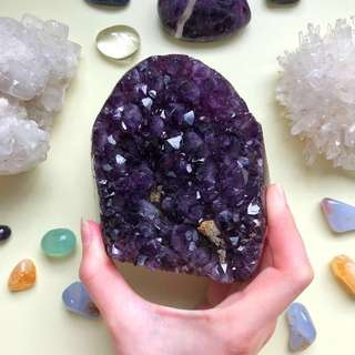 Uruguay Deep Purple Amethyst Geode Display (5A Grade)