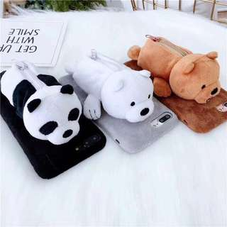 We Bare Bear Phone Case with Coin Purse