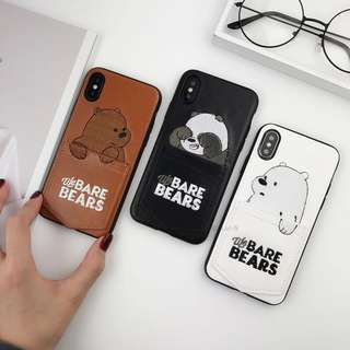 We Bare Bear Phone Case with Card Pocket