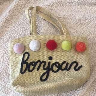 French inspired Bonjour summer bag
