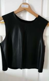 Faux Leather Zara S cropped top