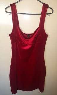 Forever 21 Bodycon Red Velvet Dress