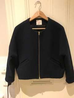 Gorman NAVY woolen cropped jacket