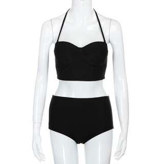 Black High Waist Bikini Swimsuit