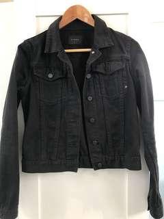 NIQUE black denim cropped jacket