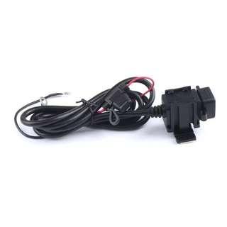 2.1A motorcycle dual USB charger port 12v-24v