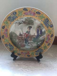 Porcelain vintage plate display 26.5 cm x 26.5 cm