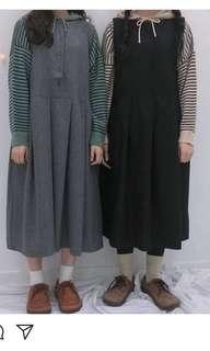 2littlebob 黑色前後著雙面裙