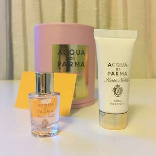 Acqua di Parma Rosa Nobile Fragrance & Body cream set